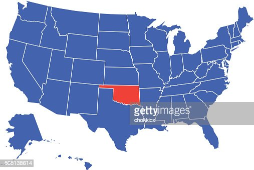 Oklahoma State Counties Map Vector Art Getty Images - Oklahoma map usa