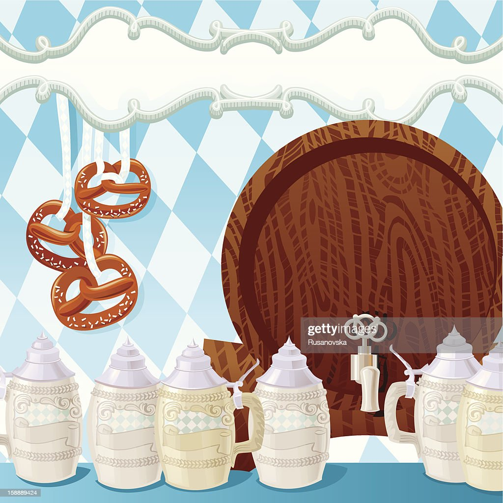 Oktoberfest Beer Steins : Vector Art