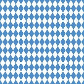 Oktoberfest blue rhombus background. seamless pattern