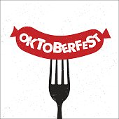 Hand drawn typography poster. Inspirational typography. Oktoberfest lettering. Vector illustration