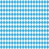 Oktoberfest traditional Bavarian linen flag background. Vector Blue seamless Bavarian pattern