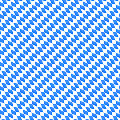 Oktoberfest vector seamless pattern with diagonal diamond shapes. Blue and white background for bavarian festival banner.