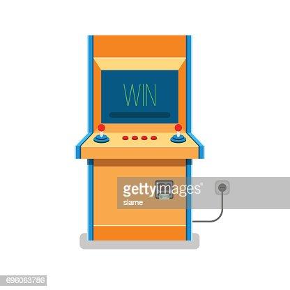 Old Arcade machine vector illustration : Vector Art