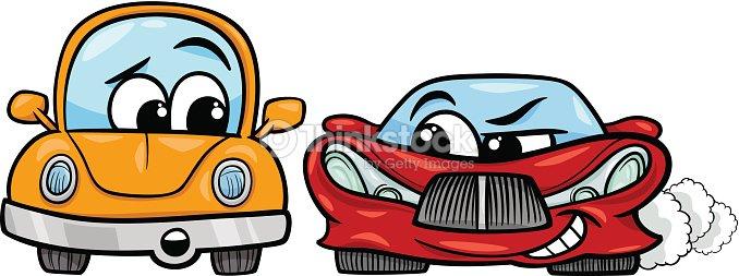 Vieille voiture et voiture de sport dessin anim clipart vectoriel thinkstock - Dessin vieille voiture ...