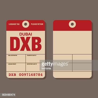 Old Fashioned Airport Luggage Tag Template Vector Art  Getty Images