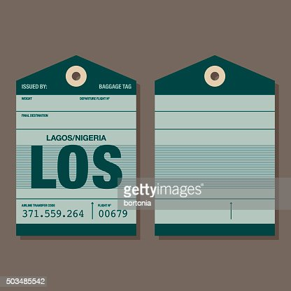 Old Fashioned Airport Luggage Tag Template Vector Art | Getty Images