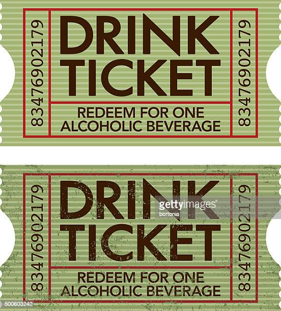 Old Fashioned Drink Ticket Stub Icon