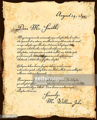 old fashioned letter correspondence design template vector art