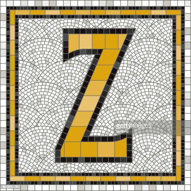Old Fashioned Mosaic Tile Alphabet Letters