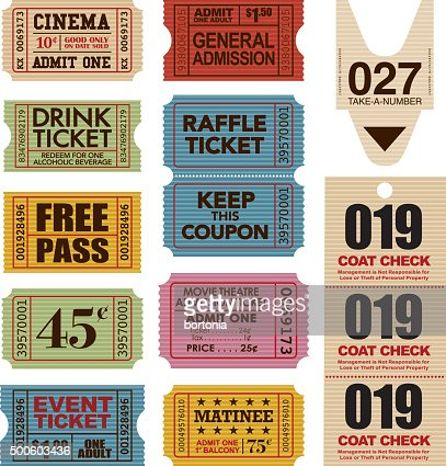 business card ticket stub template vector art getty images