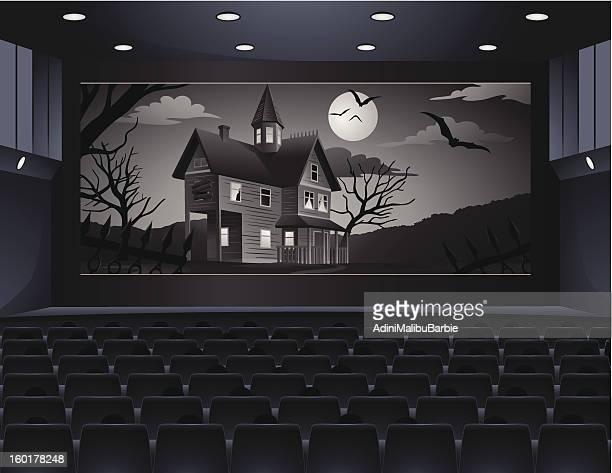 Old Horror Movie in Cinema