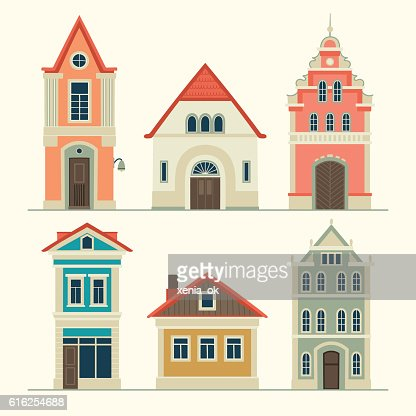 Casas antigas : Arte vetorial