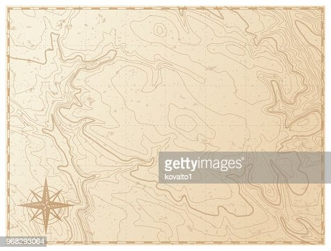 Old map isolated on white background : Vector Art
