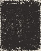 Vector old paper background in black color with scratches.