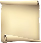 old paper scroll banner ,vector drawing