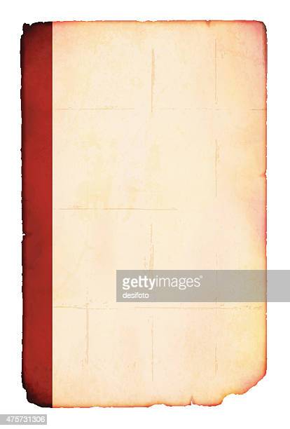 Old plain paper with red index
