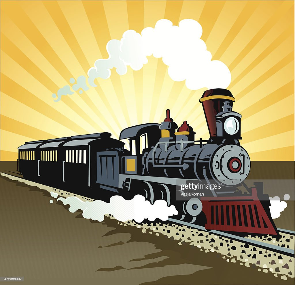 Old Fashioned Train Drawing