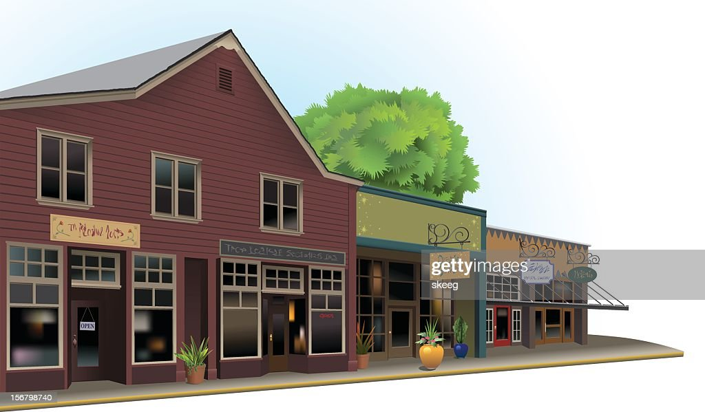 Old Town Shops : ベクトルアート