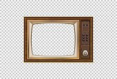 Old TV  Illustration of the good old retro TV