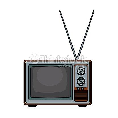 Old tv technology pop art