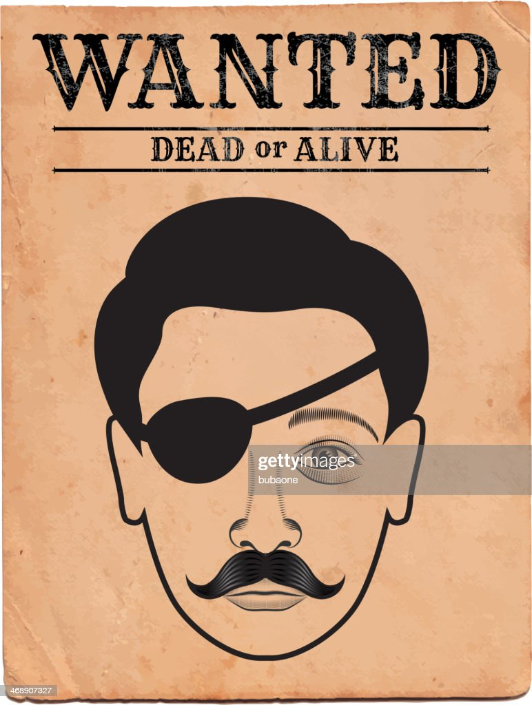 Old Western Wanted Poster On Royalty Free Vector Background Vector