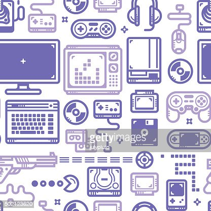 Oldschool Gaming Pattern : Vector Art