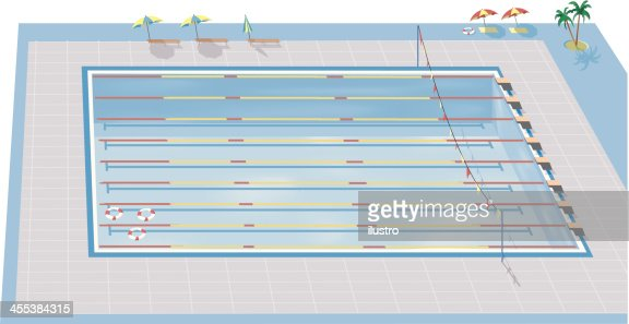 olympic swimming pool vector art getty images - Olympic Swimming Pool Diagram