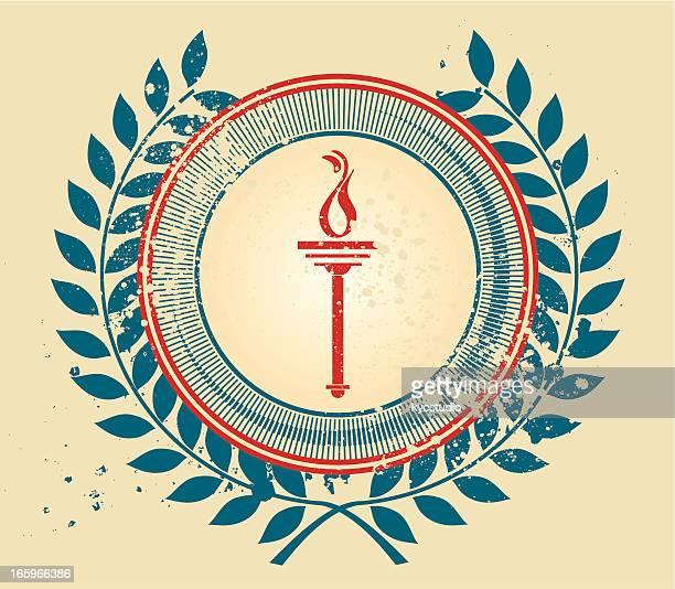 Olympische Fackel Wappen