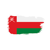 Oman flag, vector illustration on a white background