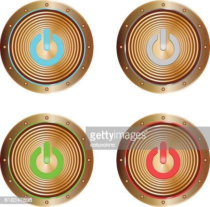 on buttons copper : Arte vectorial