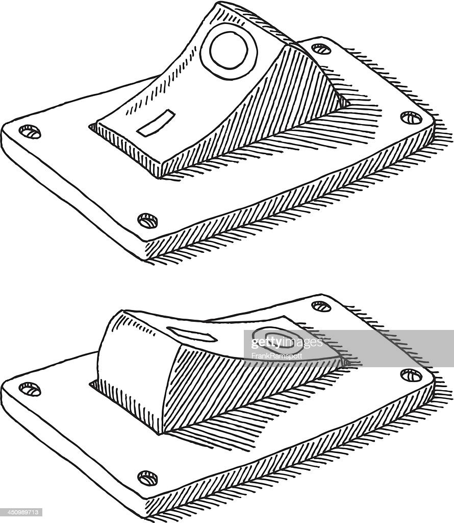 Free Line Art Converter : On off switch drawing vector art getty images