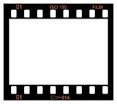 One frame of 35 mm reel film