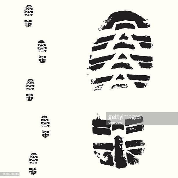 One large and five small bootprint samples