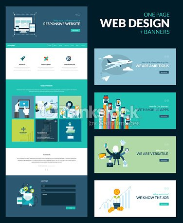 one page website design template vector art thinkstock