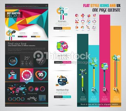 One page website flat ui design template vector art thinkstock one page website flat ui design template vector art maxwellsz