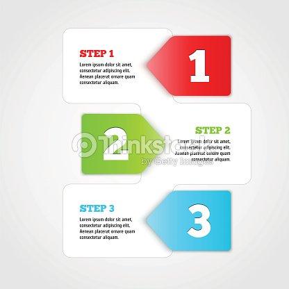 One Two Three Vector Progress Steps Vector Art   Thinkstock