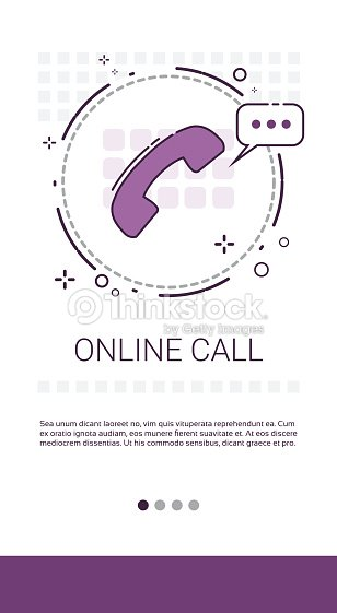 Online Call Customer Consulting Support Service Banner Vector Art