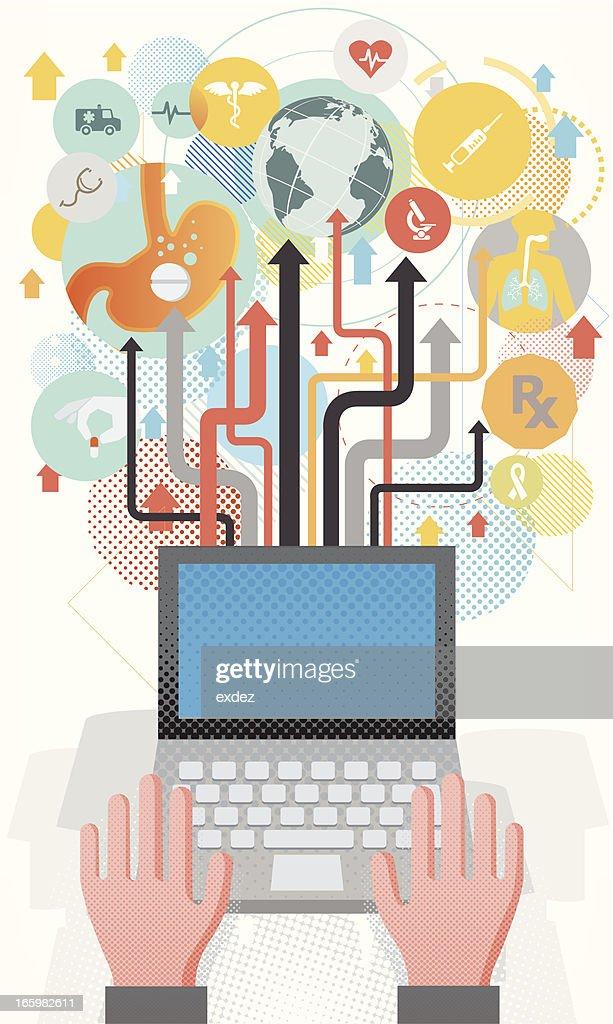 Online healthcare concept : Vector Art