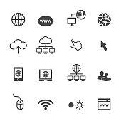 online icons, mono vector symbols