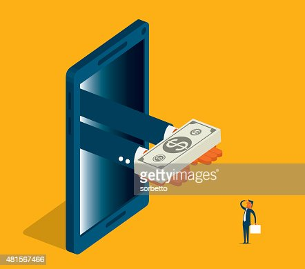 Online Money : Vector Art
