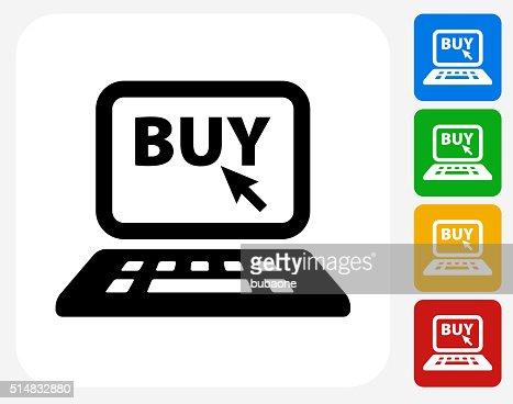 Online shopping icon flat graphic design vector art for Design scandinavo shop online