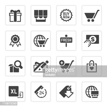 Online shopping icons | prime series : Vector Art