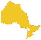 vector illustration of Ontario map