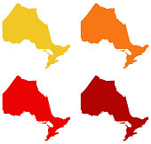 vector illustration of Ontario maps