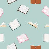 open books vector Seamless pattern