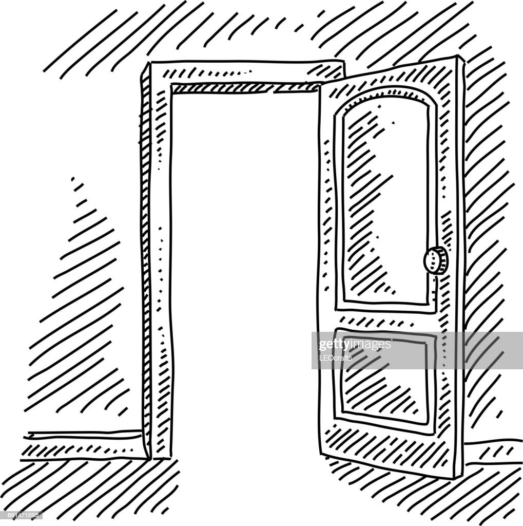 Open door drawing perspective - Open Door Drawing Vector Art Getty Images