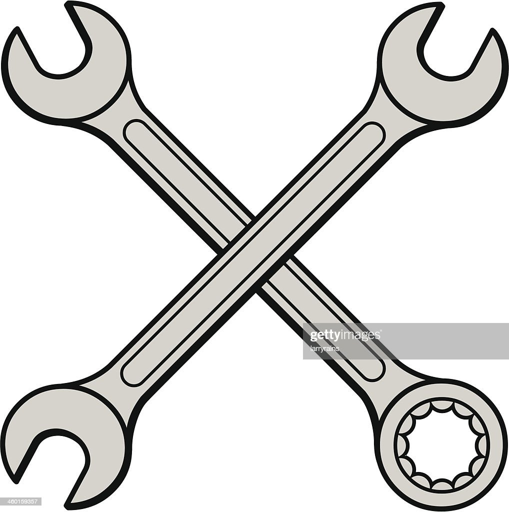 Open End Wrench Vector