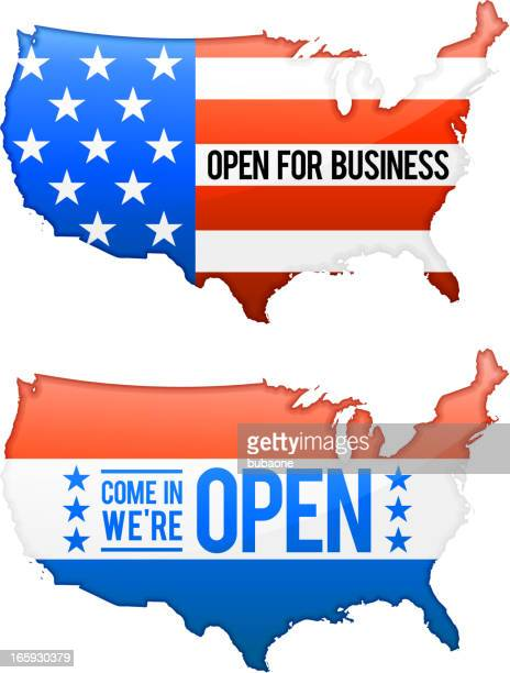 Open for Business United States Map set