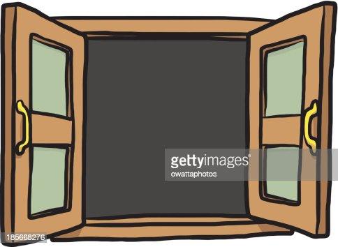 open window cartoon vector art thinkstock