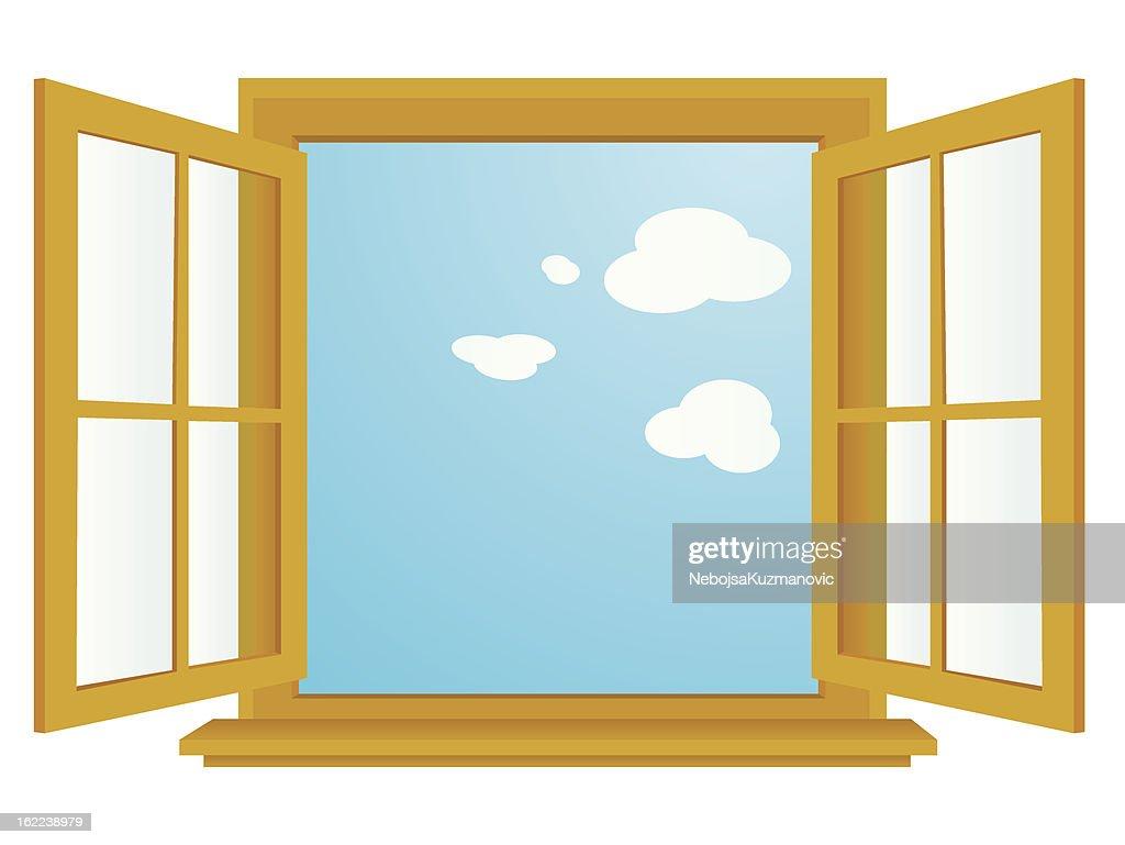 classroom window. Open Window Vector ArtClassroom
